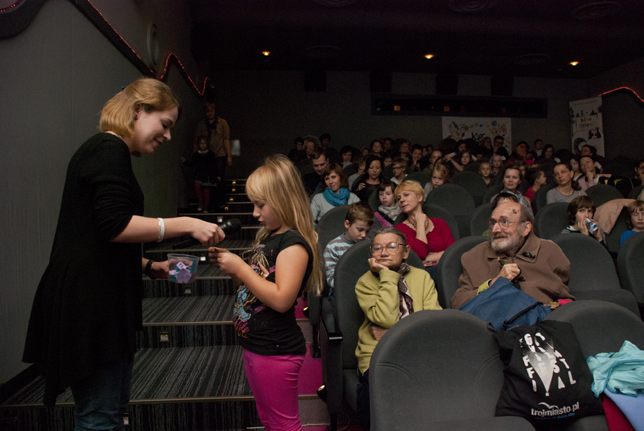 27.09.14 Cinema for Children Festival, Maria and Bogdan Kalinowscy in the first row