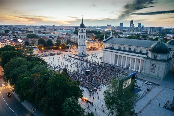 Opening of Cinema under the Stars in Vilnius Cathedral