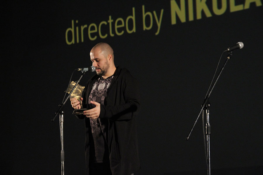 Director Nikola Ljuca receiving the Golden Star Award