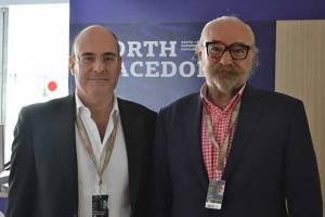 Mr. Vassilis Kosmopoulos and Gorjan Tozija at Cannes 2019