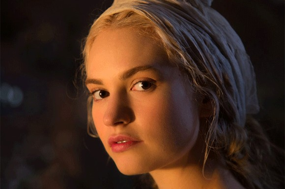 Lily James in Cinderella by Kenneth Branagh