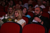 Nastassja Kinsky with BIAFF director Giorgi Gogiberidze at the gala ceremony, Source BIAFF