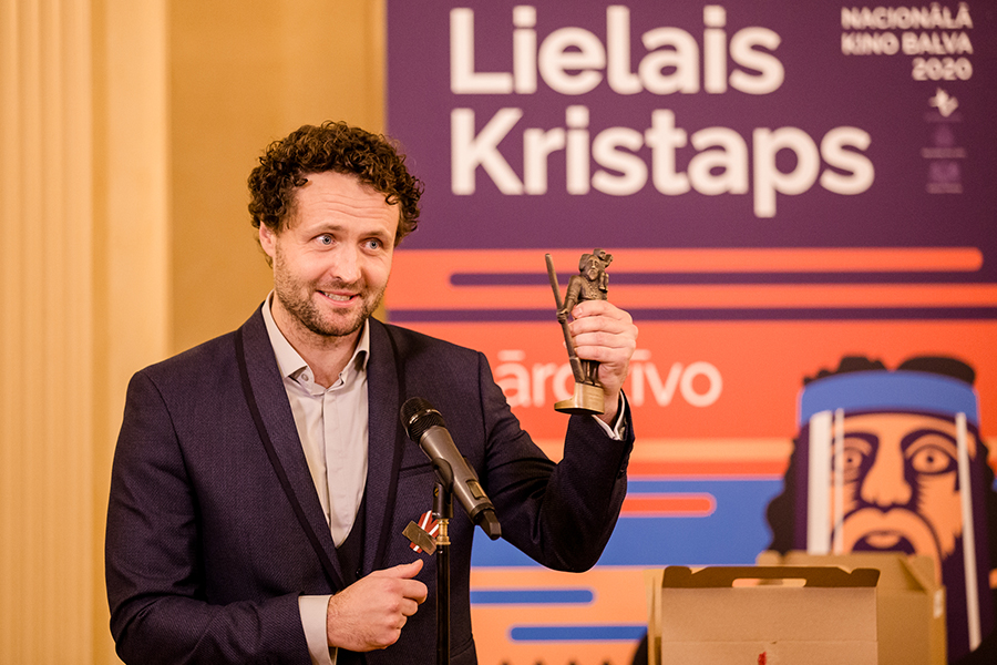 Dzintars Dreibergs - recipient of the Best Fiction Feature Director award for the film Blizzard of Souls, photo: Agnese Zeltiņa