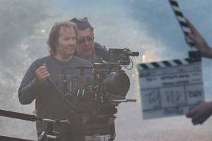 DOP Peter Zeitlinger and director Miroslav Mandić on the set of Sanremo