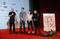 Cristian Mungiu, Marius Olteanu, producer Carla Fotea and Yves Martin – Chief Marketing Officer with Orange Romania
