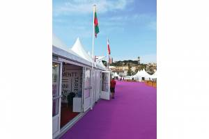 Lithuanian pavilion at the Cannes film market