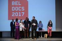 Stefan Malesevic receiving the Award for Best Serbian Documentary