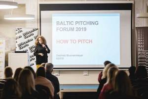Gabriele Brunnenmeyer at Baltic Pitching Forum